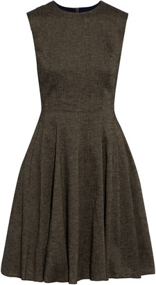 Theory Flared Linen-blend Mini Dress