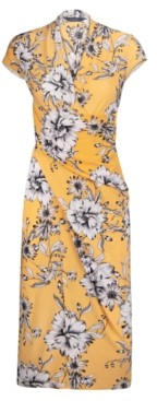 Rachel Roy Brett Floral-Print Midi Wrap Dress