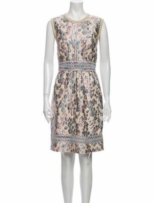 Marc Jacobs Printed Knee-Length Dress Metallic
