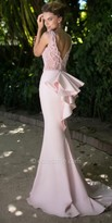 Tarik Ediz Bow Evening Dress