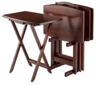 Winsome Darryl 5 Piece Oversize Snack Table Set - Antique Walnut