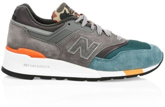 New Balance 997 Made in USA Colorblock Suede Sneakers