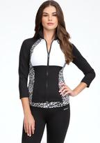 Bebe Leopard Print Funnel Jacket