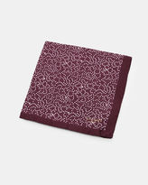Ted Baker Spot and star print silk pocket square