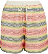 Ashish Beaded Silk-georgette Shorts - White