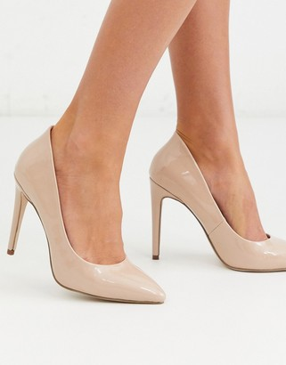 Miss KG high pointed court shoes-Beige