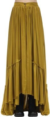 Ann Demeulemeester Long Asymmetric Ruffled Viscose Skirt