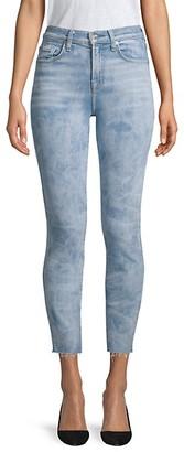 7 For All Mankind Roxanne High-Waist Cut Hem Jeans