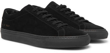 Common Projects Original Achilles Suede Sneakers - Men - Black
