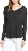 Petite Women's Caslon V-Neck Sweatshirt