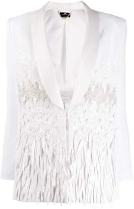 Elisabetta Franchi embellished satin blazer