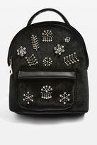 Bling mini velvet diamante backpack