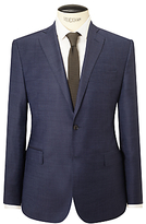 J. Lindeberg Super 140s Wool Comfort Stretch Pindot Slim Suit Jacket, Cornflower