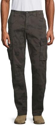 Hudson Camo-Print Stretch-Cotton Cargo Pants