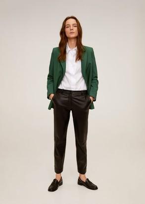 MANGO Structured Blazer button green - M - Women