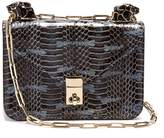 Valentino Panther-embellished mini snakeskin shoulder bag