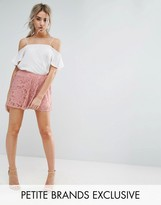 Missguided Petite Floaty Lace Shorts