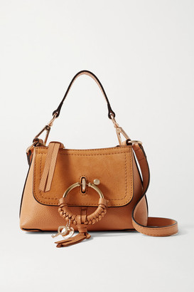 See by Chloe Joan Mini Suede And Textured-leather Shoulder Bag - Tan