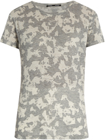 Proenza Schouler Abstract floral-print short-sleeved cotton T-shirt