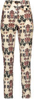 Isabel Marant Mayeul printed cotton-blend corduroy skinny pants