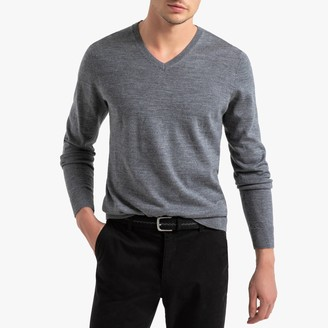 La Redoute Collections Merino Wool V-Neck Jumper