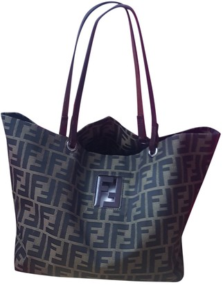 Fendi Roll Bag Brown Synthetic Handbags