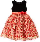 Red Sequin A-Line Dress - Toddler & Girls
