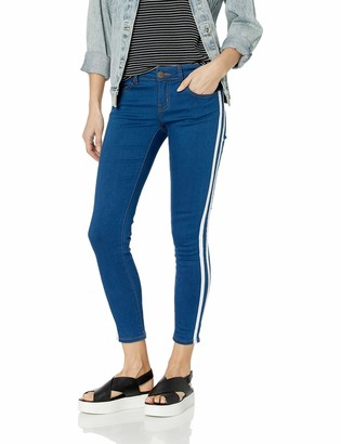Cover Girl Women's Plus Size Side Striped Skinny Jeans 2 Wash Options