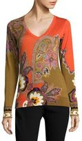 Etro Silk & Cashmere Paisley Top