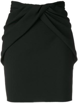 Saint Laurent draped-style skirt