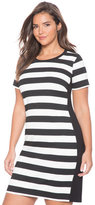 ELOQUII Plus Size Striped T-Shirt Dress