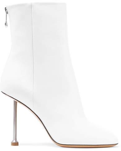 Maison Margiela Leather Ankle Boots - White