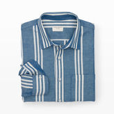 Club Monaco Slim-Fit Triple-Stripe Shirt