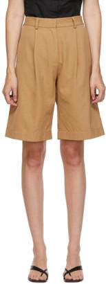 Esse Studios SSENSE Exclusive Tan Tailored Shorts