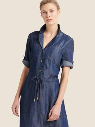 DKNY Denim Midi Shirt Dress
