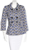 Kate Spade Abstract Print Double-Breasted Jacket