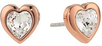 Ted Baker Han Crystal Heart Earrings (Crystal) Earring