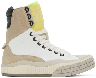 Chloé White Clint High-Top Sneakers