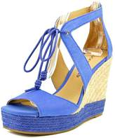 Lucky Brand Listalia Women US 5.5 Blue Wedge Sandal
