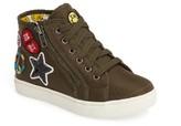 Steve Madden Girl's Code High Top Zip Sneaker