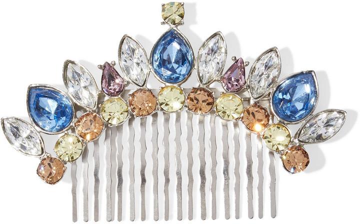 Ben-Amun Silver-tone Swarovski Crystal Hair Slide