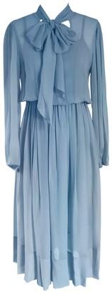 Onelady Silk Midi Dress Light Blue - Chris