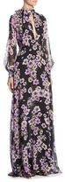 Giambattista Valli Anemone Floral Silk Maxi Dress