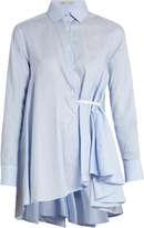 Palmer Harding PALMER/HARDING Asymmetric waterfall-draped shirt