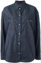 Maison Margiela contrast stitch denim shirt - women - Cotton - 38