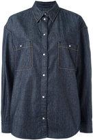Maison Margiela contrast stitch denim shirt - women - Cotton - 38