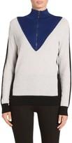 St. John Micro Terry Color Block Sweater