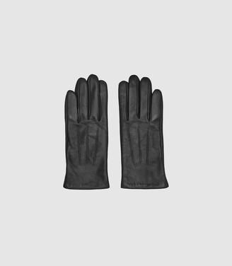 Reiss Belle - Leather Gloves in Black