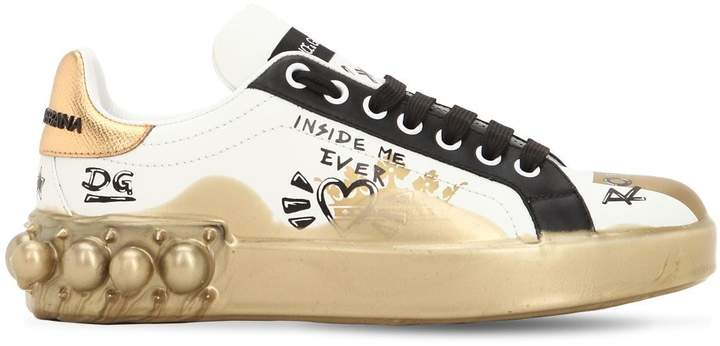 b0dae9001d Dolce Gabbana Leather Sneaker - ShopStyle