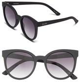 Quay Women's 'Like Wow' 55Mm Round Sunglasses - Black/ Smoke Lens